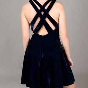 Altar'd State Hennepin Velvet Mini Dress Size XS